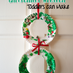 SIMPLE TODDLER CHRISTMAS WREATH