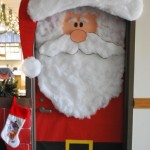 Santa door to classroom.