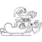 Santa's sleigh coloring page