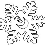 Snowflake Coloring Page for kids