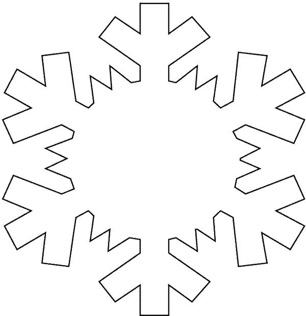 Snowflake Coloring Pages Kid