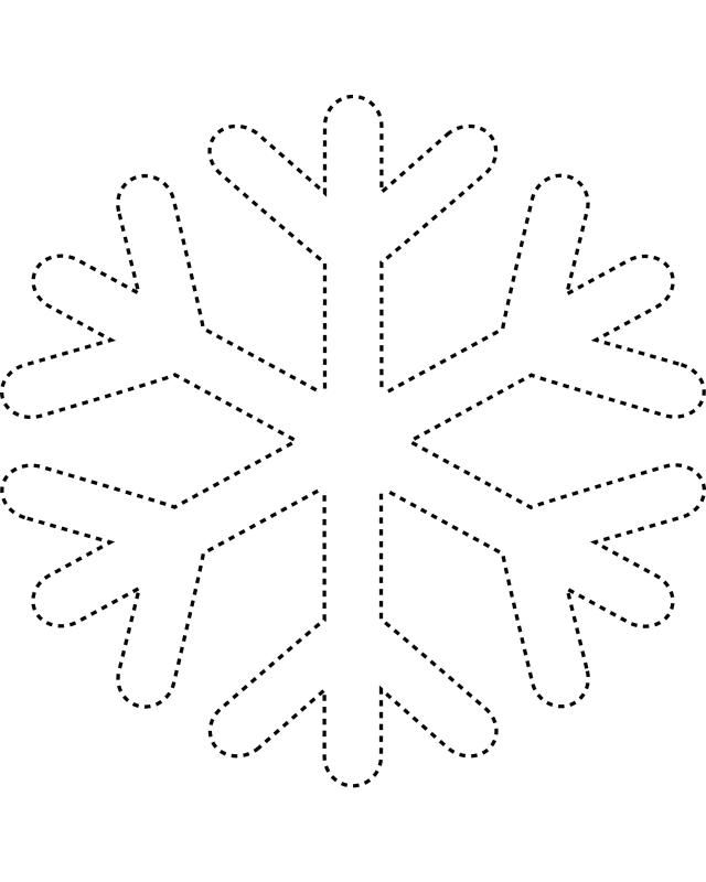 Snowflake Coloring Pages Kids