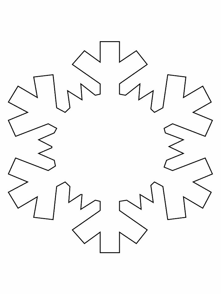 Snowflake Simple-shapes Coloring Pages