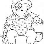 baby_with_nipple_coloring_page