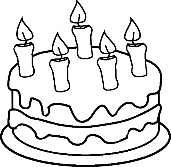 Birthday Cake Coloring Page | Crafts and Worksheets for ...