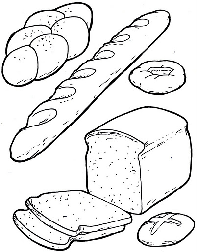 bread coloring page murderthestout