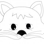 cat mask coloring page (1)