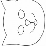 cat mask coloring page (3)