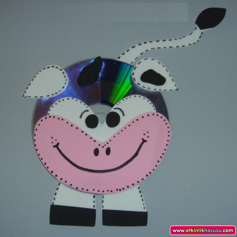 cd cow craft for kids