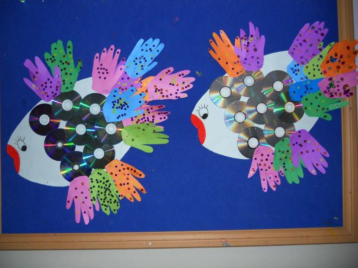 cd fish project craft idea for kids