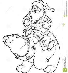 christmas santa clous coloring pages