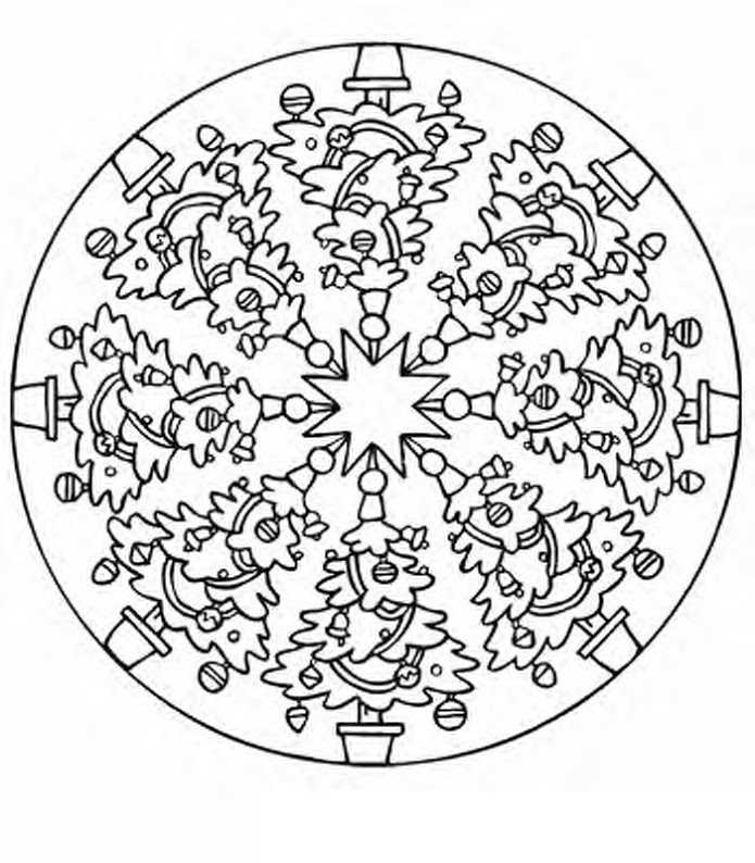 Christmas mandala coloring pages | Crafts and Worksheets ...