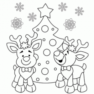 christmas_santa's_reindeer_coloring_pages  (1)