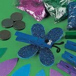 clothes pin butterfly craft for kid