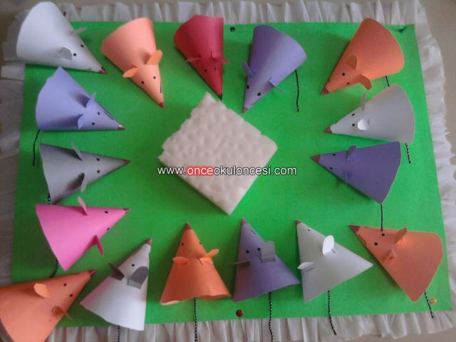 cone shaped mouse craft