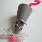 cone shaped mouse crafts