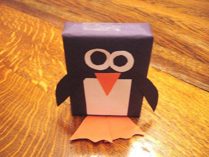 cover juice boxes penguin
