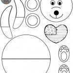 cut paste bear craft