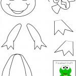 cut paste frog craft