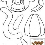 cut paste monkey craft