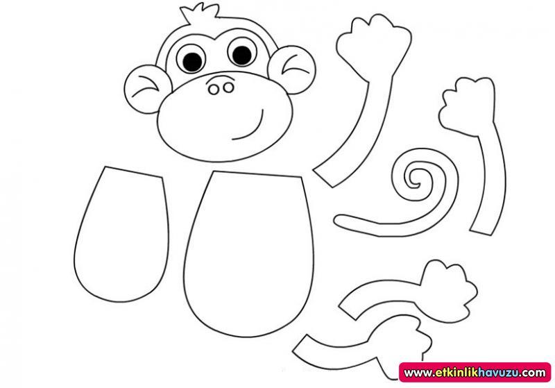 Monkey Craft Template For Preschool Crafting