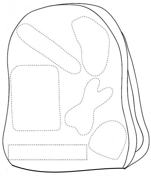 cut paste school bag