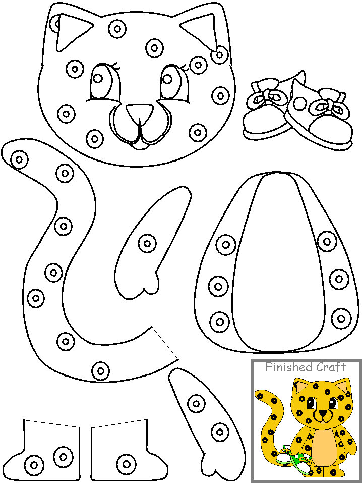 Cut Paste Tiger Craft Crafts And Worksheets For Preschool