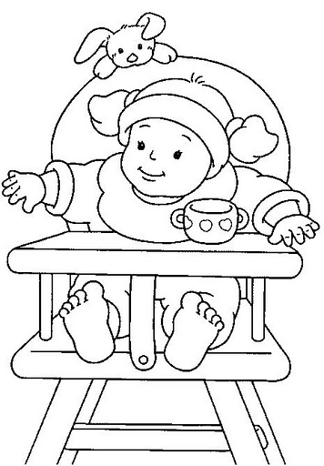 cute_baby_in_feeding_chair_coloring_pages