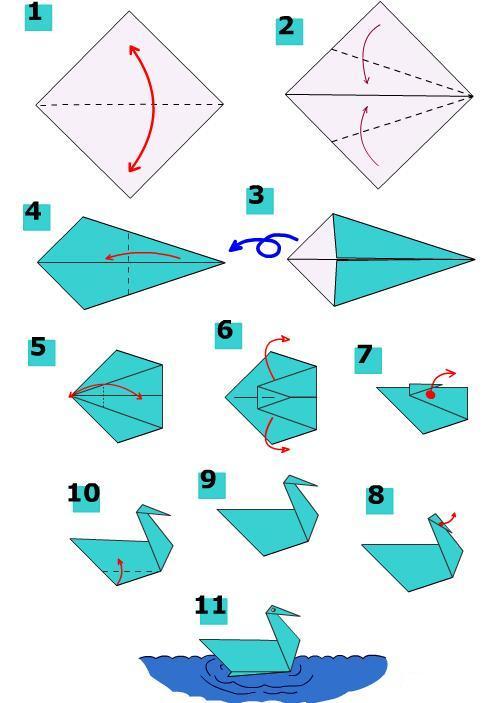 easy_origami_swan_carft_preschool