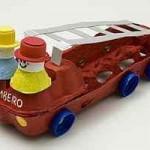 egg carton fire engine