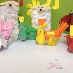 egg carton hen craft