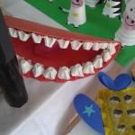 egg carton tooth craft
