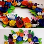 egg carton wreath craft