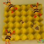 egg cartoon bee craft