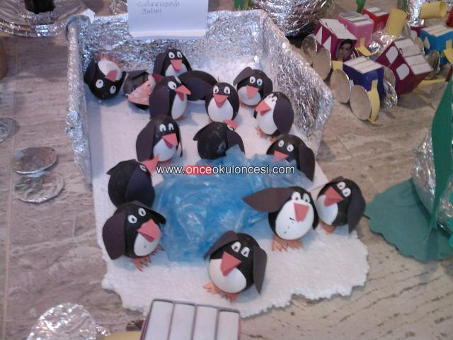egg penguin craft