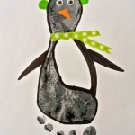 footprint penguin craft