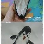 footprint penguin craft for kids