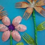 fork flower craft