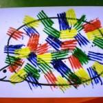 fork painted hedgehog