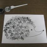 fork painted hedgehog craft