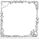frame coloring page for kids