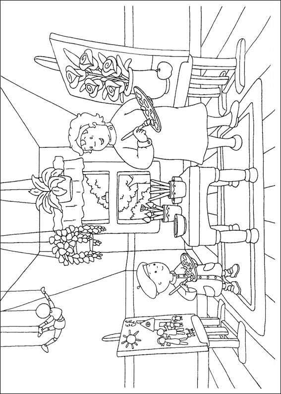 Free Caillou Coloring Pages Worksheets 1 Crafts And Worksheets