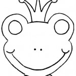 frog mask coloring page