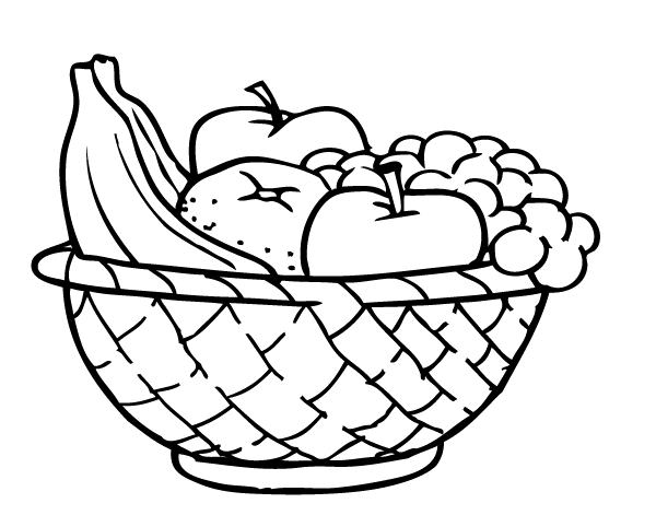 Fruit Basket Coloring Page Crafts And Worksheets For Preschool
