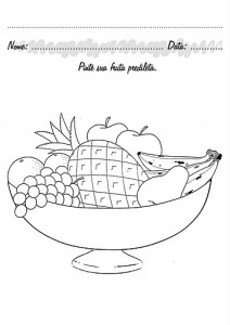 fruit plate coloring