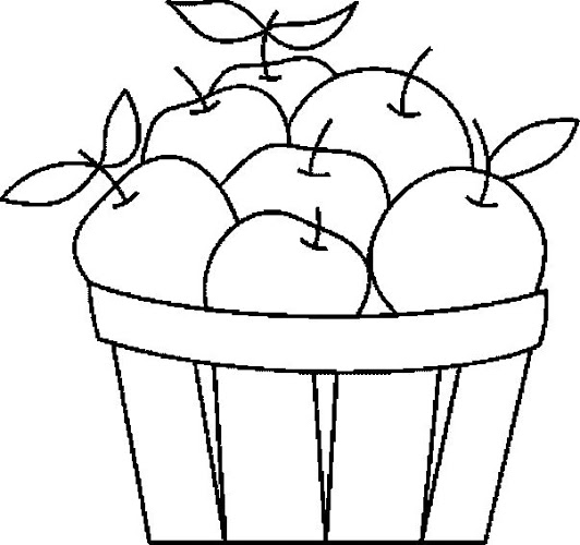 Fruit Basket Coloring Page 10 Crafts And Worksheets For