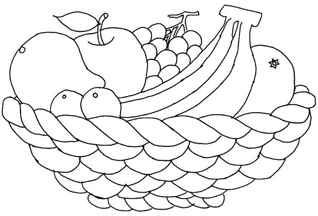 Fruit Basket Coloring Page 4 Crafts And Worksheets For
