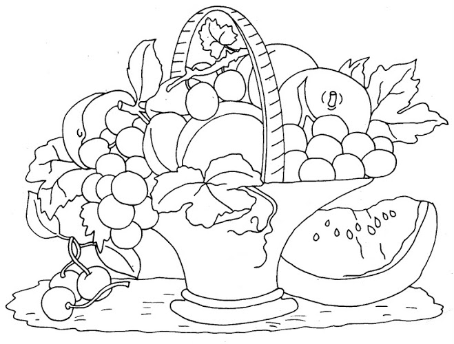 Fruit Basket Coloring Page 6 Crafts And Worksheets For