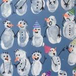 hand print snowman