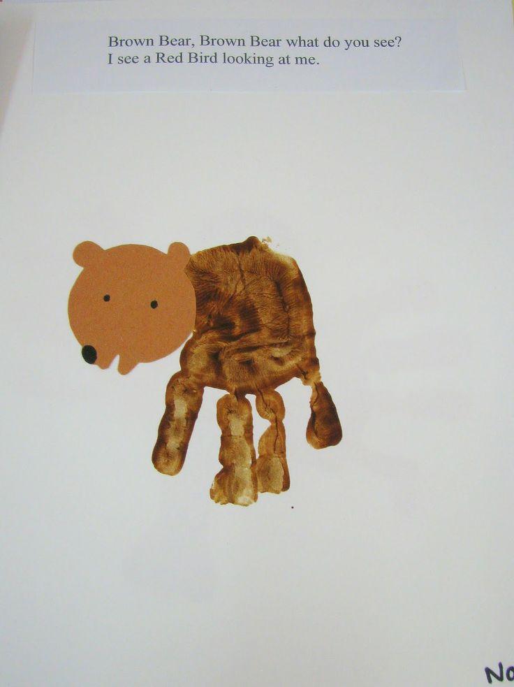 handprint bear craft